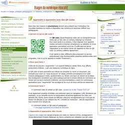 Apprendre à apprendre avec des QR Codes- Usages du numérique éducatif