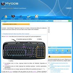 Apprendre a taper sur un ordinateur : les touches speciales du clavier.