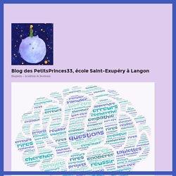 Apprendre demain – Blog des PetitsPrinces33, école Saint-Exupéry à Langon