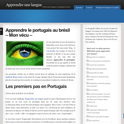 apprendre le portugais au brésil - mon vecu
