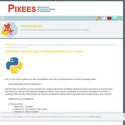 Apprendre les bases de la programmation avec Python — Pixees