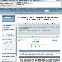 Apprendre à programmer avec le framework PHP Symfony 3