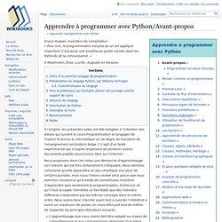 Apprendre à programmer avec Python/Avant-propos