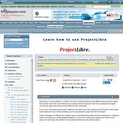 Apprendre à utiliser ProjectLibre