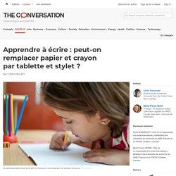 Apprendre à écrire: peut-on remplacer papier etcrayon partablette etstylet?