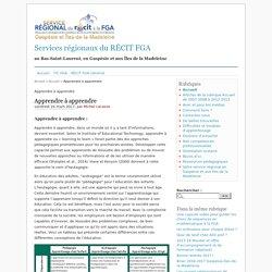 Apprendre à apprendre - Services régionaux du RÉCIT FGA