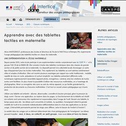 Apprendre avec des tablettes en maternelle - Académie de Versailles