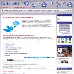 Apprendre avec Twitter : dossier pédagogique