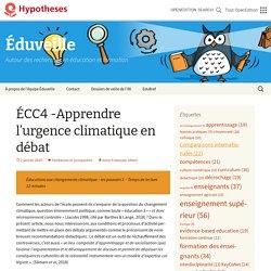 ÉCC4 -Apprendre l'urgence climatique en débat