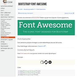 Apprendre à utiliser Font Awesome