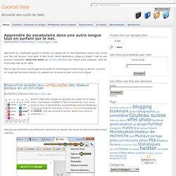 Apprendre du vocabulaire dans une autre langue tout en surfant sur le net.