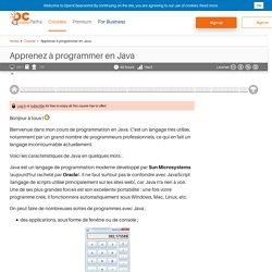 openclassrooms -Cour pour programmer en Java