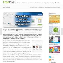 Page Builder : apprenez à construire vos pages Internet