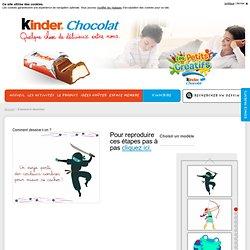 Comment dessine-t-on ? Apprenez à dessiner de jolis dessins sur Kinderchocolat.fr