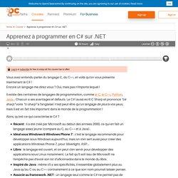 Apprenez à programmer en C# sur .NET