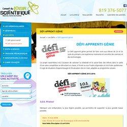 Défi apprenti génie - Les Défis - Conseil du loisir Scientifique, Mauricie, C...