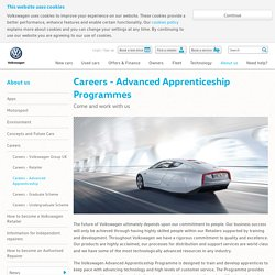 Careers - Advanced Apprenticeship Programmes