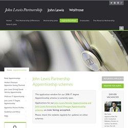 John Lewis Partnership - Apprenticeships