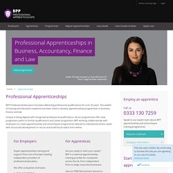Apprenticeships in Business, Finance & Law