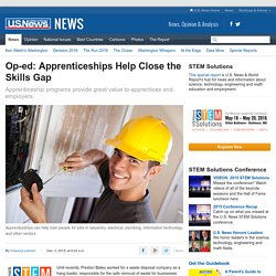 Op-ed: Apprenticeships Help Close the Skills Gap