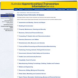 Australian Apprenticeships aptitude quizzes & careers information - Australian Apprenticeships and Traineeships Information