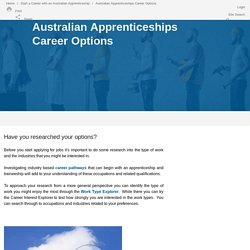 Apprenticeships and traineeships career choices and pathways - AAPathways