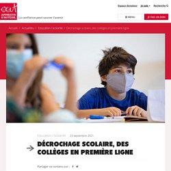 Apprentis d'Auteuil développe son offre de collèges pour les décrocheurs scolaires. - Apprentis d'Auteuil