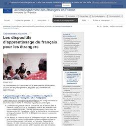 Les dispositifs d'apprentissage du français pour les étrangers / L'apprentissage du français / Accueil et accompagnement