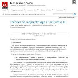 Théories de l'apprentissage et activités FLE - Blog de Marc Oddou
