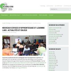 Nouveaux espaces d'apprentissage et learning labs : actualités et enjeux - Promising