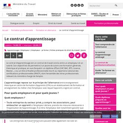 Le contrat d'apprentissage - Formation en alternance