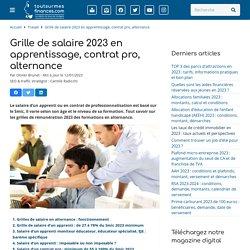 Grille de salaire 2017 en apprentissage, contrat pro, alternance