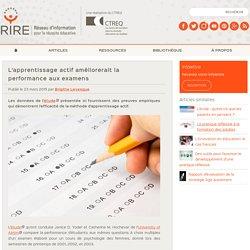 L'apprentissage actif améliorerait la performance aux examens