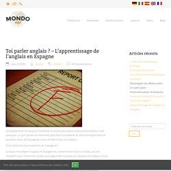 L'apprentissage de l'anglais en Espagne