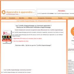 7 profils d'apprentissage - Jean-François MICHEL [apprendre à apprendre.com]