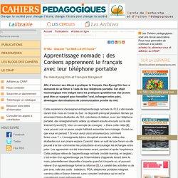 Apprentissage nomade : des Coréens apprennent le français avec leur téléphone