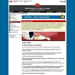 Le droit d'auteur pour les élèves - Boîte à outils - Centre d'apprentissage