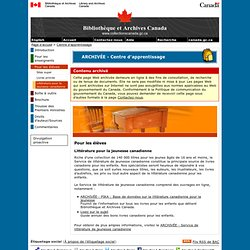Littérature pour la jeunesse canadienne - Pour les élèves - Centre d'apprentissage