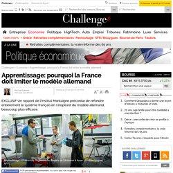 Apprentissage: pourquoi la France doit imiter le modèle allemand
