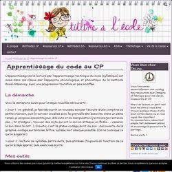Apprentissage du code au CP