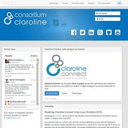 Consortium Claroline - Claroline est un logiciel Open Source permettant de déployer facilement une plateforme dédiée à l'apprentissage et au travail collaboratif en ligne