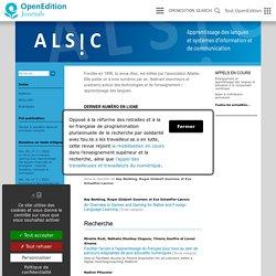 Alsic - Apprentissage des Langues et Systèmes d'Information et de Communication