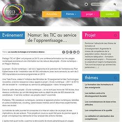 Namur: les TIC au service de l'apprentissage…