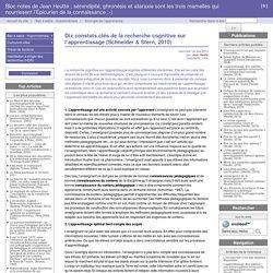 Dix constats clés de la recherche cognitive sur l'apprentissage (Schneider & Stern, 2010