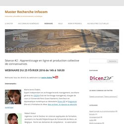 Séance #2 : Apprentissage en ligne et production collective de connaissances