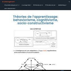 Théories de l'apprentissage: behaviorisme, cognitivisme, socio-constructivisme