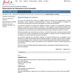 Apprentissage en contexte - OBSEF UNIL