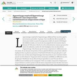 Apprentissage coopératif/Apprentissage collaboratif: d'un comparatisme conventionnel à un comparatisme critique
