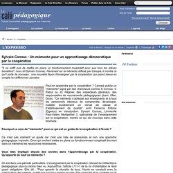 Sylvain Connac : Un mémento pour un apprentissage démocratique par la coopération