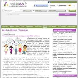 Enquête : L'apprentissage des langues reste difficile en France